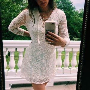 White Lace Dress- NWT